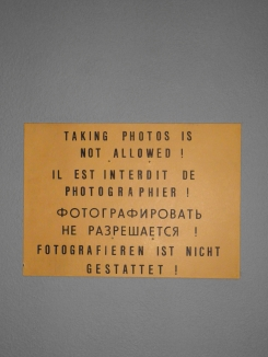 """Taking Photos Is Not Allowed"""