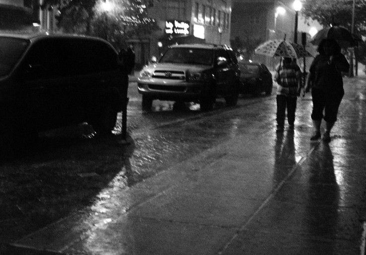 Umbrellas Rainy Night (#142-edit)
